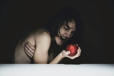 a depiction of Eve and the forbidden fruit